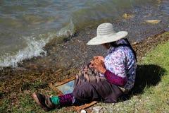 Sinistro-dietro gli anziani Fotografia Stock