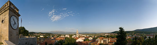 Sinj - panorama Photos stock