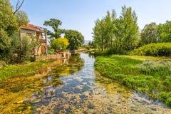 Sinj Rumin river. Beautiful landscape of Rumin river has been under protection since 2000, near Sinj Croatia stock photography