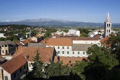 Sinj. View from above of Sinj, Croatia Royalty Free Stock Image