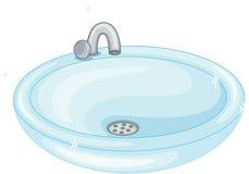 Sink. Illustration of sink on white royalty free illustration