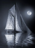 Sink. Ing sailing ship in a full moon night Royalty Free Stock Photo