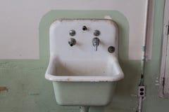 Sink in cell block at Alcatraz San Francisco Royalty Free Stock Image