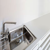 Sink of a domestic kitchen Royalty Free Stock Images