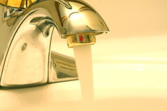 Sink faucet Stock Photo