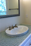 Sink with glass tile Stock Photo