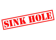 SINK HOLE Royalty Free Stock Images