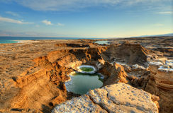Sink Holes. Near the Dead Sea in Ein Gedi, Israel Royalty Free Stock Photos