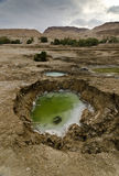 Sink holes in the desert Stock Images