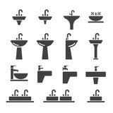 Sink icon set Royalty Free Stock Image