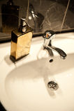 White sink details Royalty Free Stock Images
