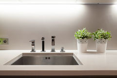 Sink in kitchen Royalty Free Stock Images
