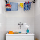Sink in the Laundry Room Stock Photos