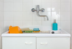 Sink in the Laundry Room Stock Photo