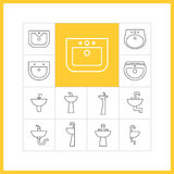 Sink linear icons Royalty Free Stock Photography