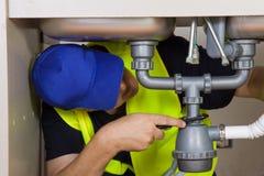 Sink plumber Royalty Free Stock Image