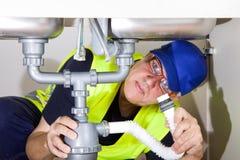 Sink plumber stock photo