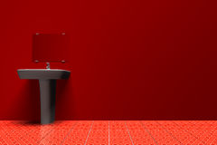 Sink in red Royalty Free Stock Photos