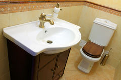 Sink and toilet bowl Royalty Free Stock Image