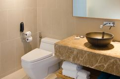 Sink and toilet bowl Stock Photography
