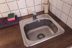 A sink from the top view royalty free stock image