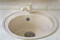 Sink for ware and the crane for water Royalty Free Stock Photography