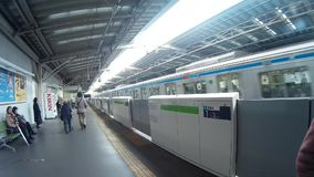 Sinkanseng在东京日本 股票录像