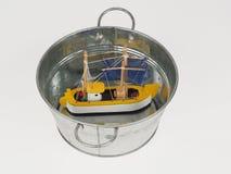 Sinked statek Zdjęcie Royalty Free