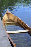Sinked wooden fisihing boat. Half sunken wooden fishing boat Royalty Free Stock Photography