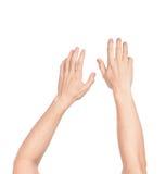 Sinken der Hände lizenzfreie stockbilder