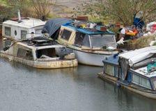 Sinkende Boote Lizenzfreies Stockbild
