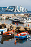 Sinkende Kreuzschiff Costa Concordia, Stockbilder