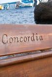 Sinkende Kreuzschiff Costa Concordia, Stockfotografie