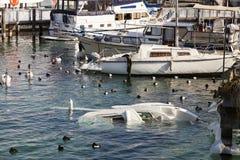 Sinkendes Boot Stockbild