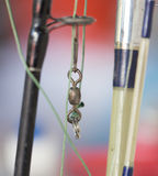 Sinker on the fishing rod. A photo stock image