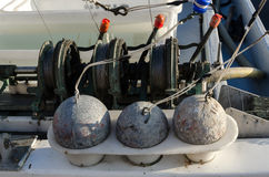 Sinkers for fishing Stock Photos