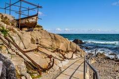 Sinkflug zum Meer Lizenzfreies Stockfoto