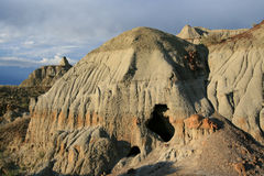 Sinkhole in the Badlands Royalty Free Stock Images
