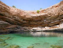 Sinkhole de Bimmah, Omã imagens de stock royalty free
