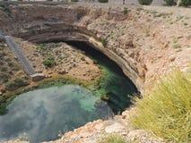 Sinkhole de Hawiyat Najm, Omã imagem de stock royalty free