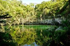 Sinkhole i en grotta Royaltyfri Fotografi