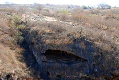 Sinkhole på Tawi Atayr Arkivfoto