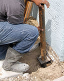 Sinkhole Repair Stock Images