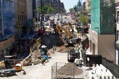 Sinkhole on Rideau Street Ottawa Stock Photography