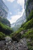 Sinkhole in wulong, chongqing, china royalty free stock photos