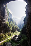 Sinkhole in wulong, chongqing, china royalty free stock photo