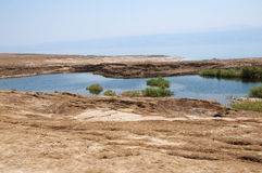 Sinkholes in Dead Sea Royalty Free Stock Photo