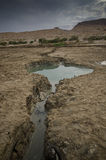 Sinkholes in the desert royalty free stock photo