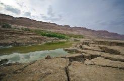 Sinkholes in the desert royalty free stock image