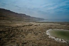 Sinkholes in the desert royalty free stock photos